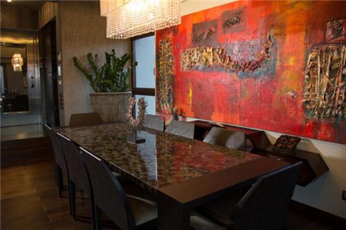 这座1200平方米的绿化造诣设计感独特,郁郁葱葱间尽显禅意无限.
