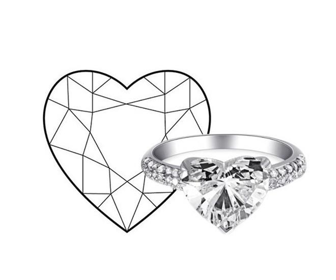 心形切割钻石