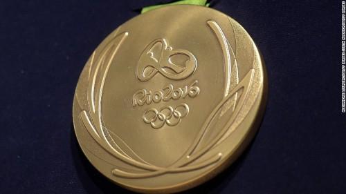 里约金牌含金6克 刻月桂树叶图案象征和平