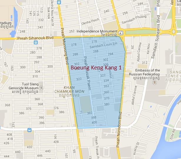 金边地图——bkk1的位置