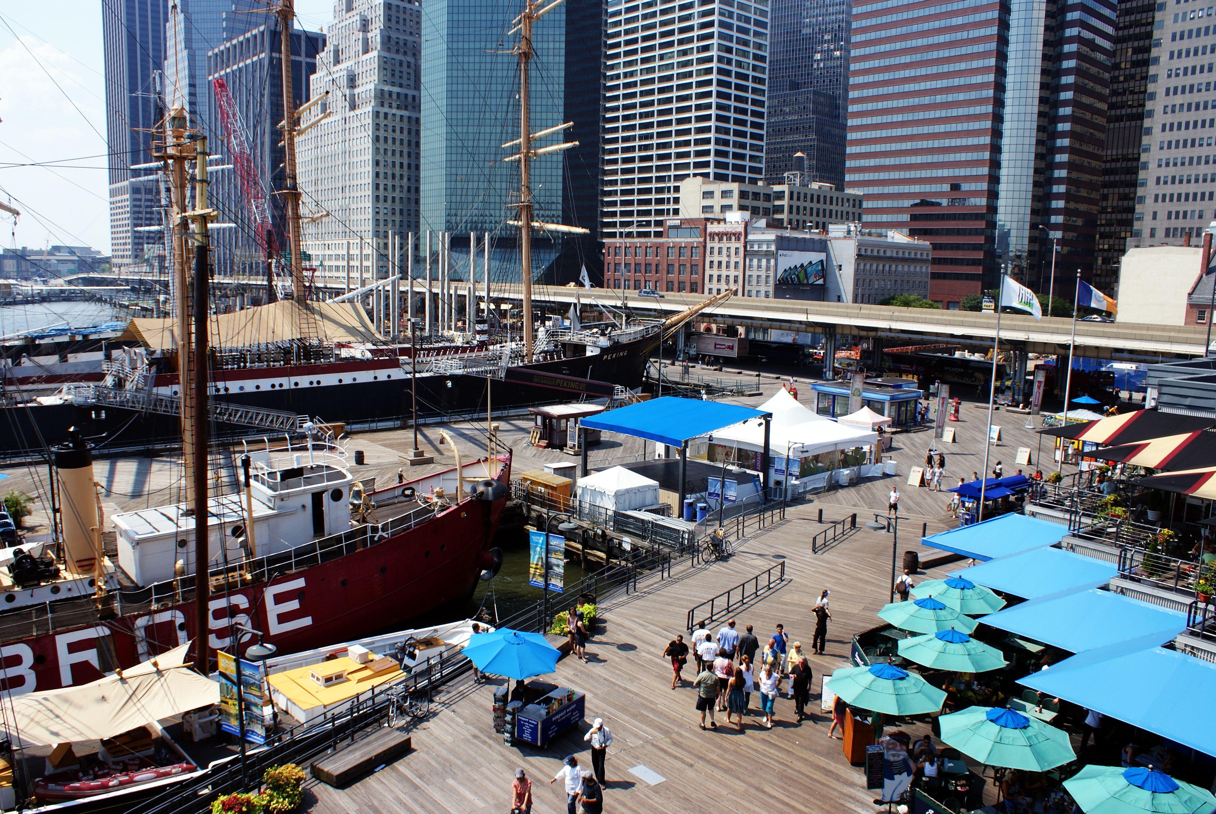 未来将会迎来大规模开发建设的曼哈顿下城北侧的南街海港历史街区