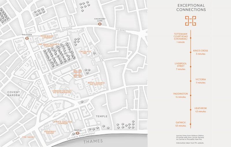 伦敦林肯广场方位图