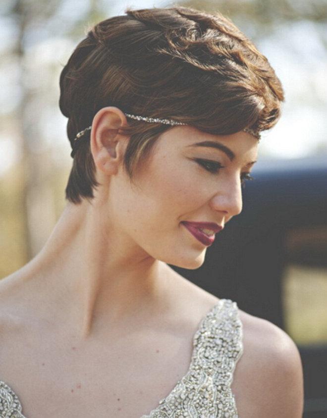 发型设计 短发新娘也可以性感和可爱