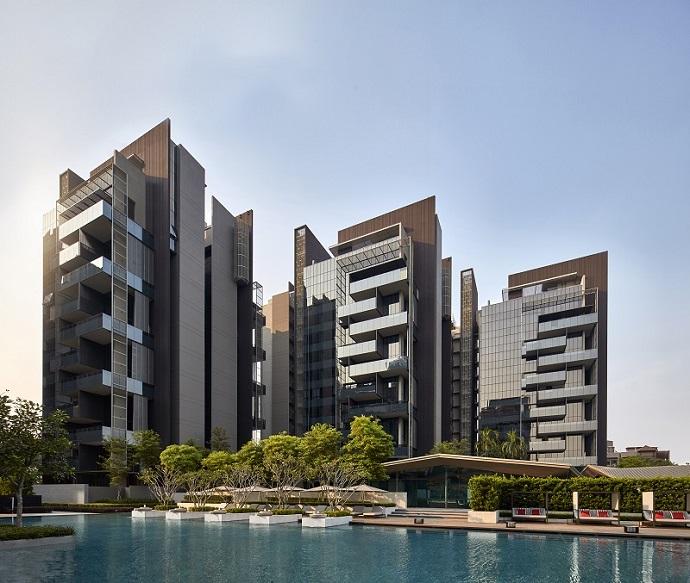 leedon residence的建筑设计师是获奖无数的曾仕乾,他将热带的度假