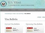 美国7月移民排期 中国人EB-3大幅倒退2年多   美国