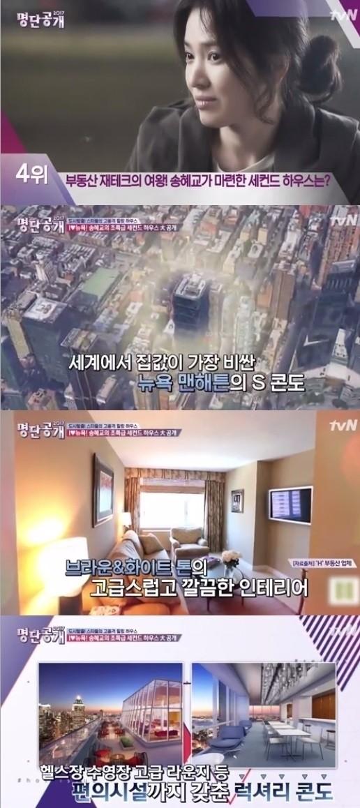 宋慧乔在纽约曼哈顿购入某公寓式酒店,每月月租收入可达台币4.4万人民币