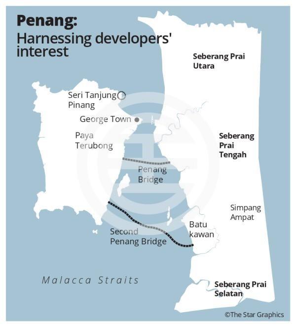 地图:槟城热门房产投资地段