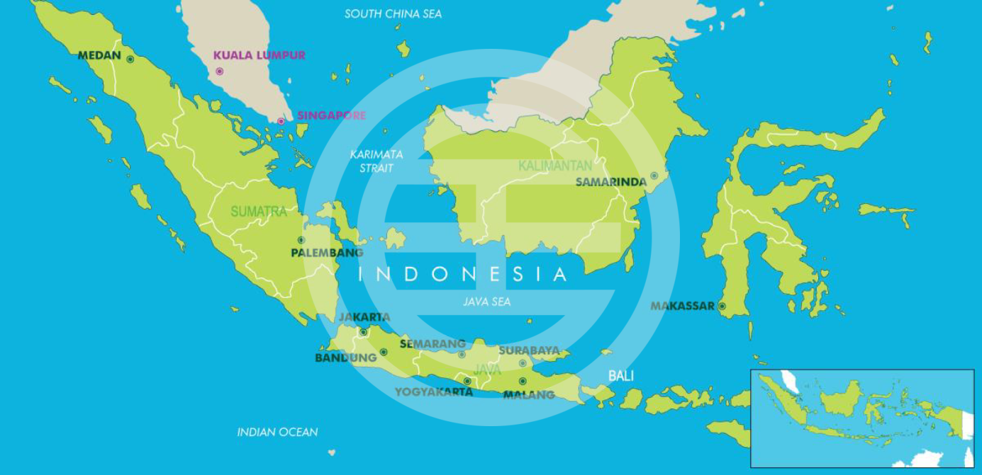 地图1:印度尼西亚新兴投资胜地(资料来源:2017年9月《CBRE研究》)
