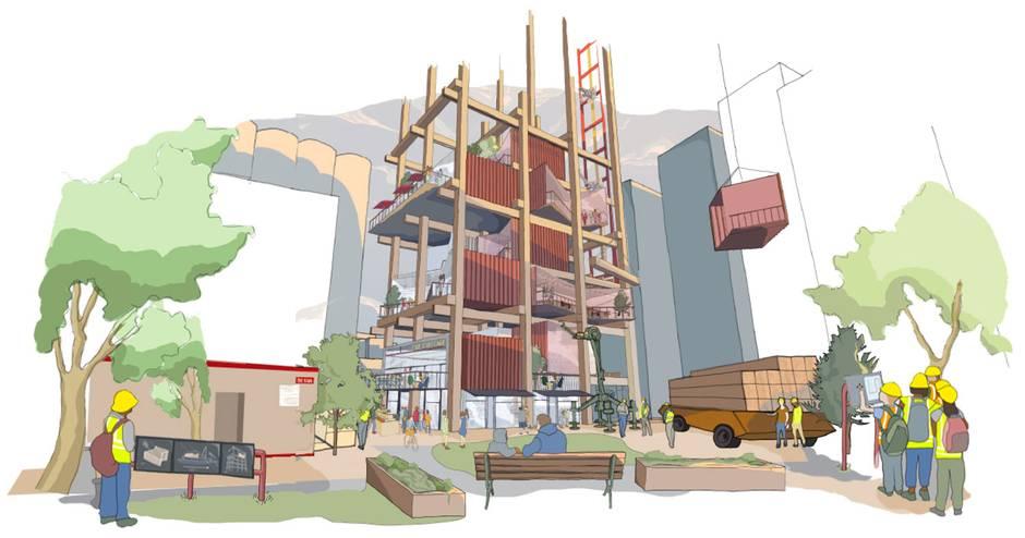 多伦多Sidewalk的建筑将会是办公室、零售、住宅和制造商空间混合的模块化单位