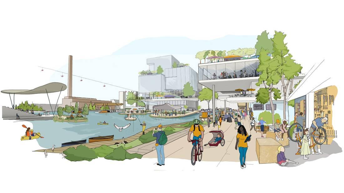 Sidewalk Labs的多伦多海滨码头重建概念图二