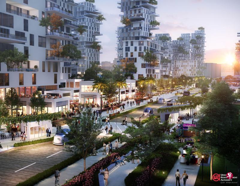 东海岸碧湾区将打造全长一公里的碧湾大道,街道两旁将设有多家商店和咖啡座,成为居民交流休闲的好去处