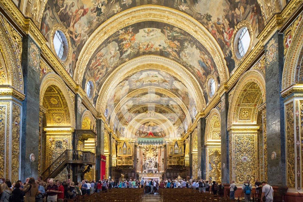 瓦莱塔的圣约翰大教堂内景