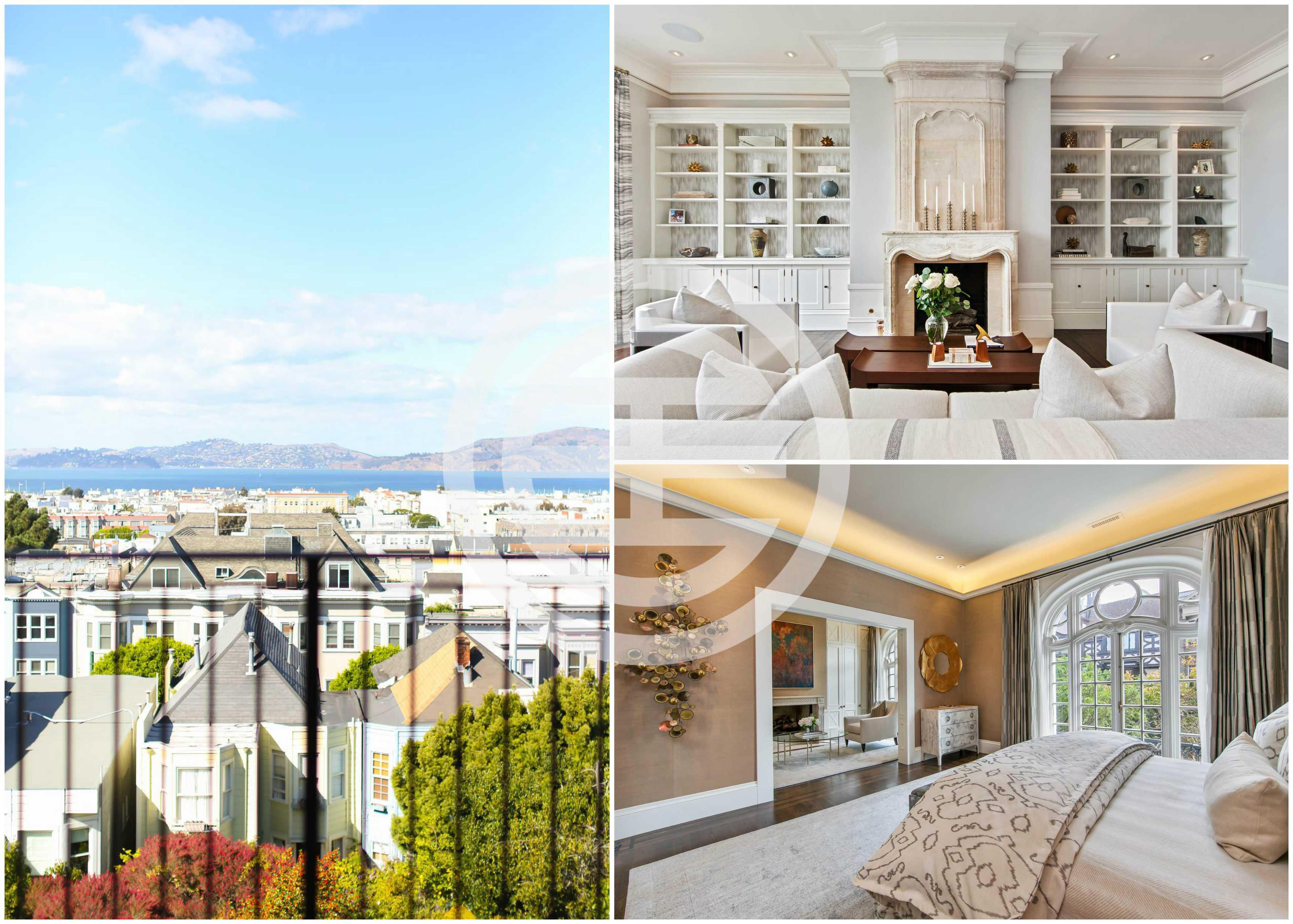 荣获2017年家居频道最受欢迎的灵感设计奖,这套精致的6卧5浴加州旧金山豪宅正在居外网上出售,其海湾景观令人难以抗拒