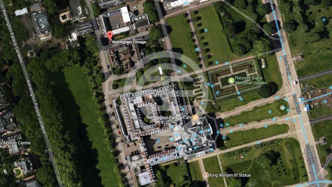 诺丁汉别墅在谷歌地图上的位置