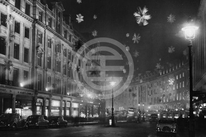 1955年圣诞彩灯——摄政街