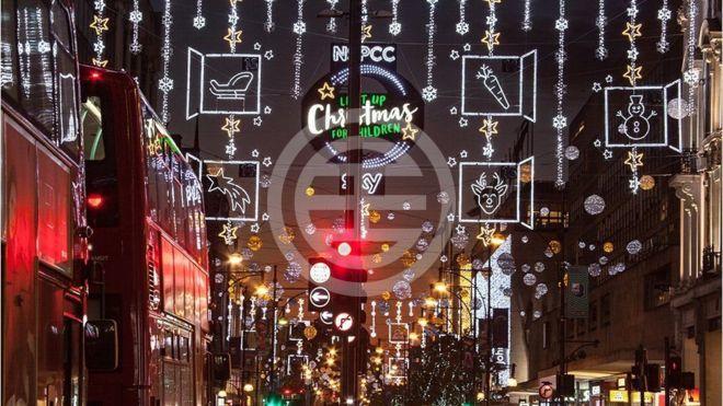 2017年圣诞彩灯——牛津街