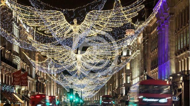 2017年圣诞彩灯——伦敦著名的高端购物街摄政街