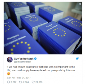 找回原有身份标识 英国宣佈护照封皮将改回蓝色