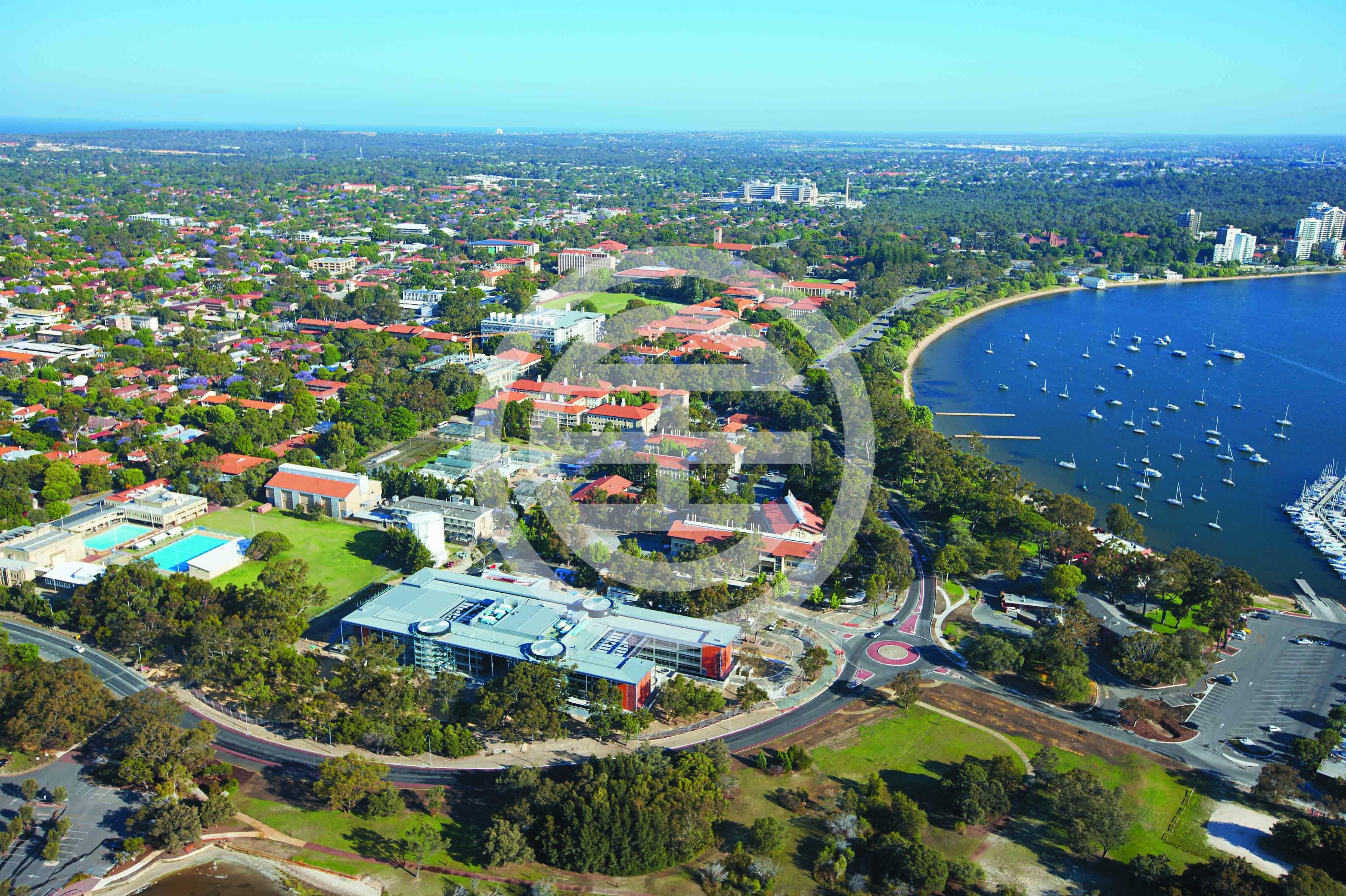 俯瞰西澳大学的校园