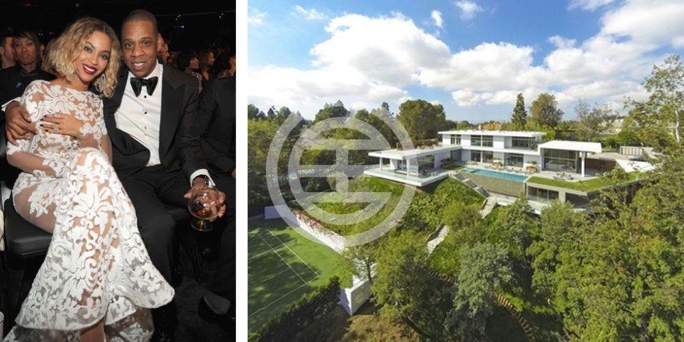 碧昂丝和丈夫杰伊Z的在洛杉矶高尚住宅区霍姆比山的豪宅