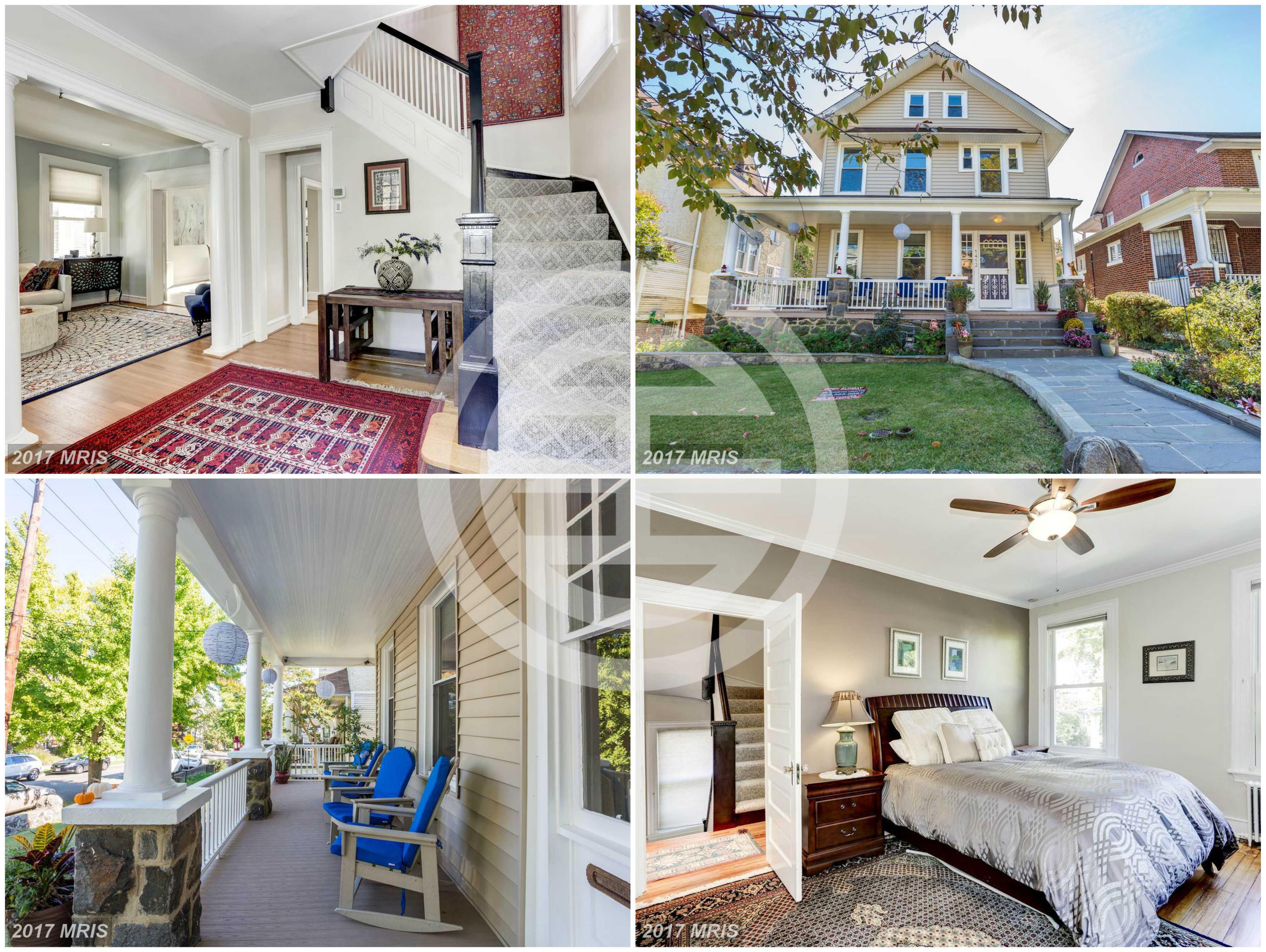 在居外网上放售的华盛顿特区房产:维多利亚式建筑,楼高4层,5卧4卫,带门廊和花园,仅售99.99万美元(约665万元人民币)