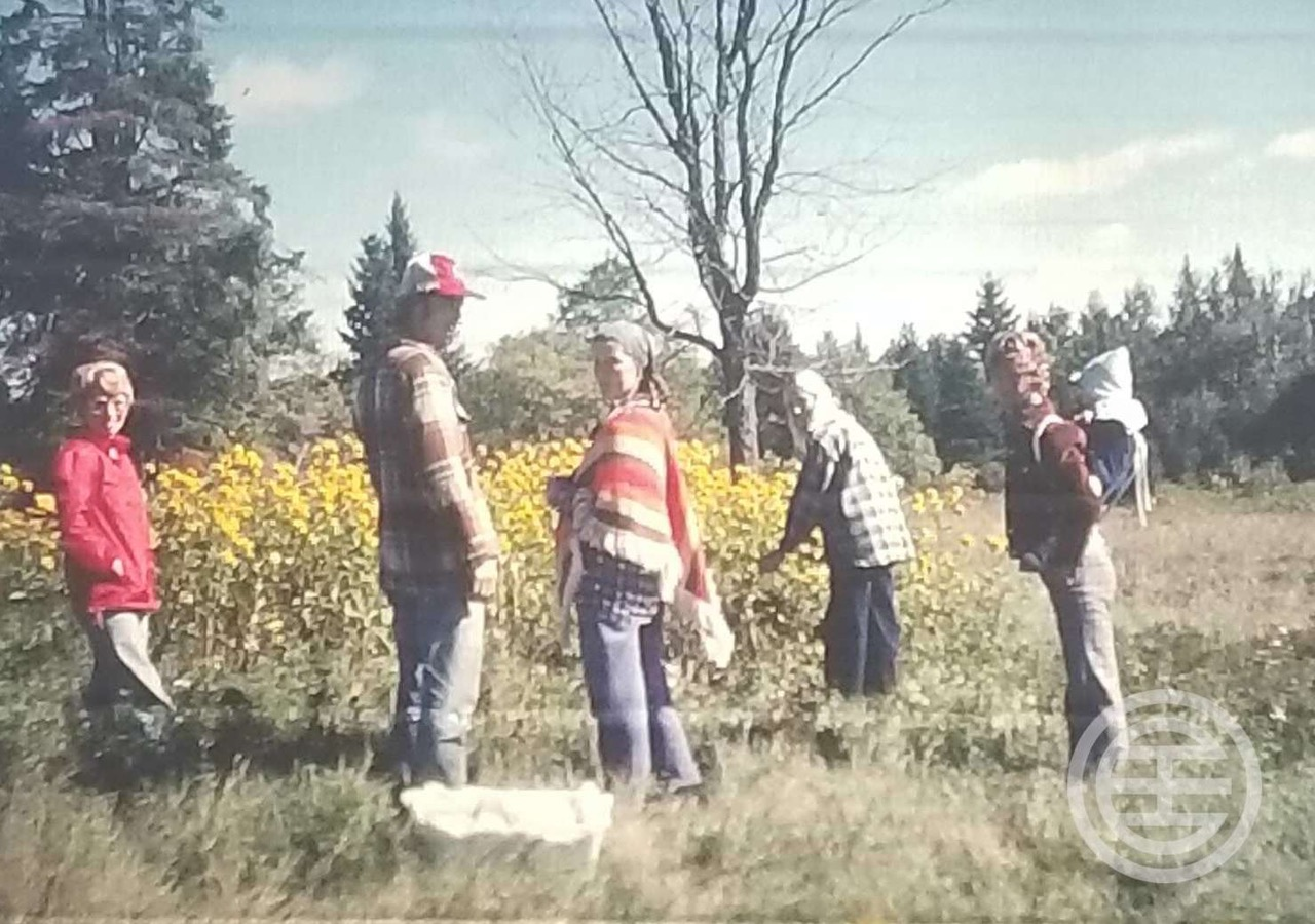 Eric与家人在森林的合照