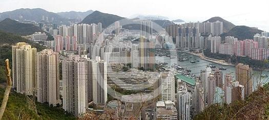 俯瞰中国香港仔的港灣美景