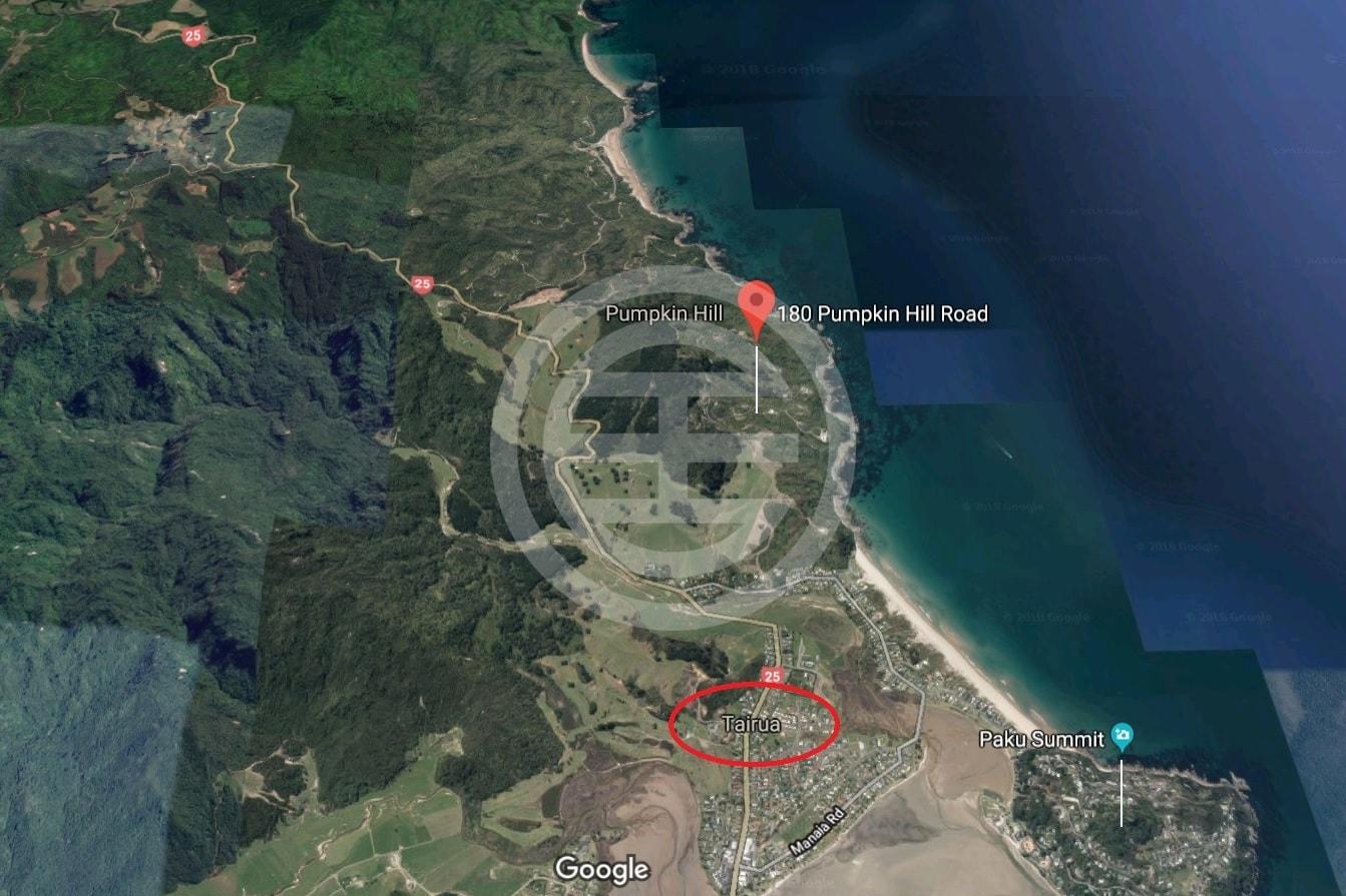 谷歌地图上的南瓜岭路180号土地