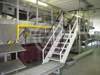 北工厂一楼的鱼类加工场