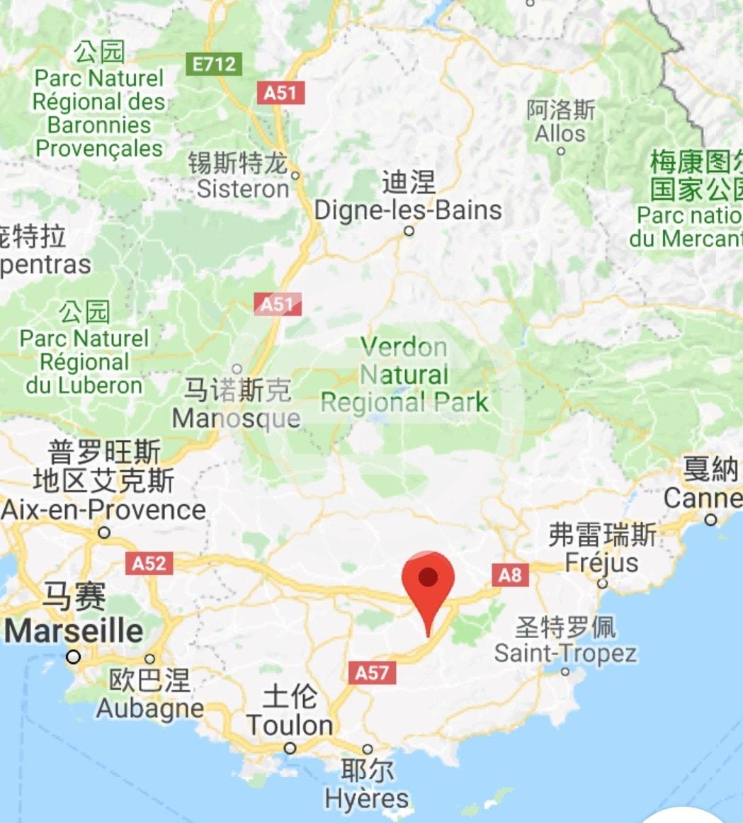 Gonfaron位置:普罗旺斯-阿尔卑斯-蓝色海岸大区