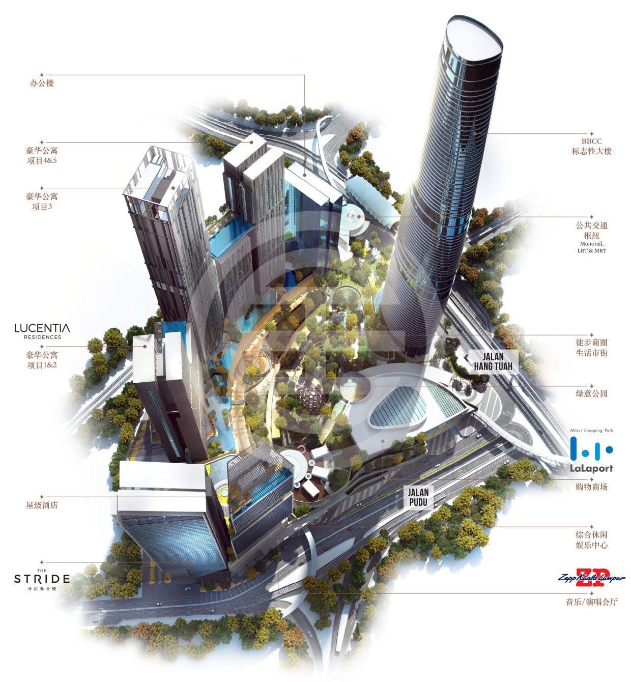 武吉免登城中城发展蓝图