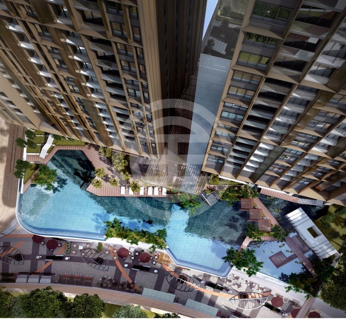LUCENTIA天际观景台上的高空无边际泳池