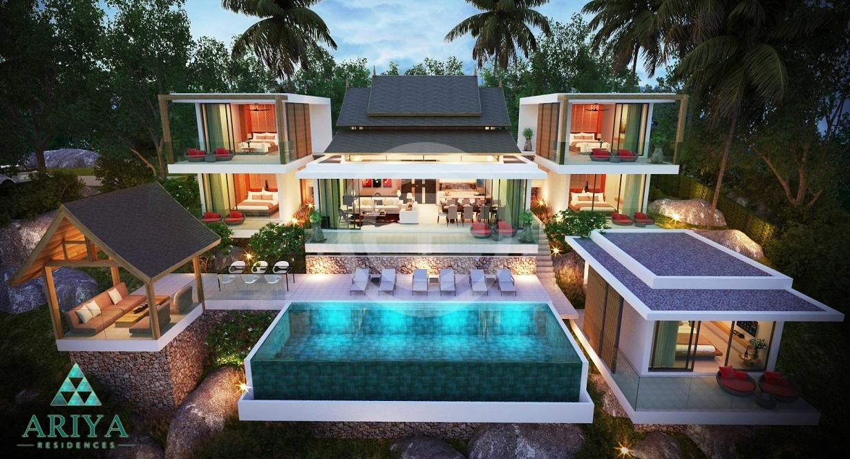"""泰国苏梅岛""""阿里亚""""豪华私人泳池别墅:坐落在热带山林之中,环境私密"""