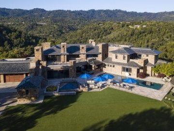 硅谷富豪亿元庄园首次对外出售——位于山顶的家,巨大的家