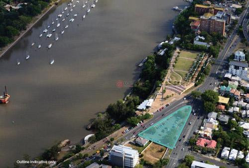 本地块紧靠布里斯班河,可以俯瞰美丽的布里斯班河和对岸的高楼群,视野绝佳。