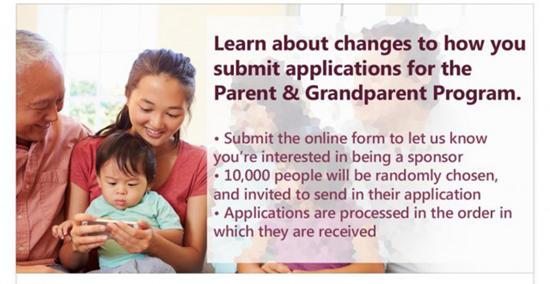 加拿大 | 父母签证又有新改革:随机抽取一万名