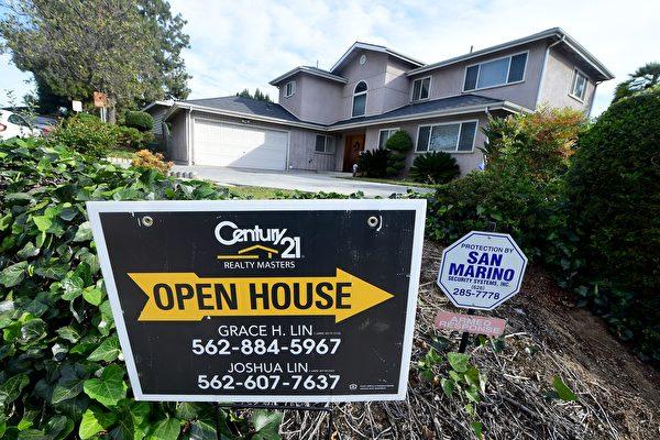美国房市持续上涨。图为加州的一处地产开放给买家参观