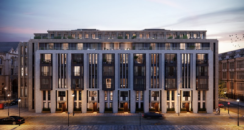 Luxury apartment in the traditional wealthy area of West London Lincoln Square