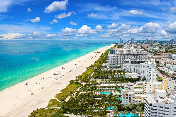 """迈阿密是福布斯杂志评选的""""美国最干净的城市"""",因地产价格便宜以及高品质生活优势,正成为中国人的下一个投资焦点"""