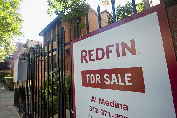 房价不断上涨,更多的美国人认为,现在是卖房的好时机。图为芝加哥房屋出售