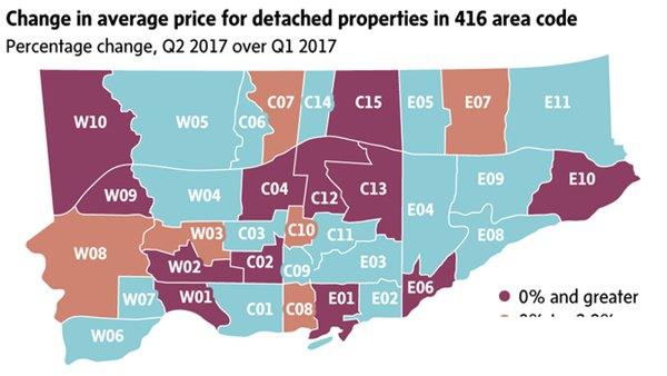 多伦多房价确实在降 但这些地方仍照升不止   加拿大
