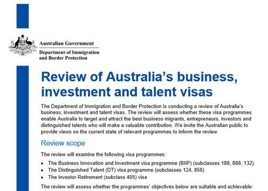 复审商业投资移民签证 门槛或又提高 | 澳洲