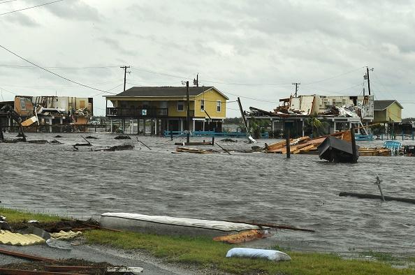 哈维飓风重创德克萨斯州,大量民宅遭到水浸