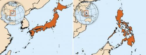 日本和菲律宾的地域差异