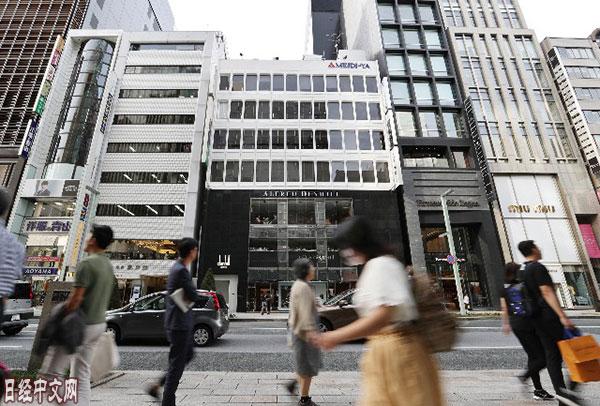 日本银座2丁目附近地价超过了泡沫经济时期