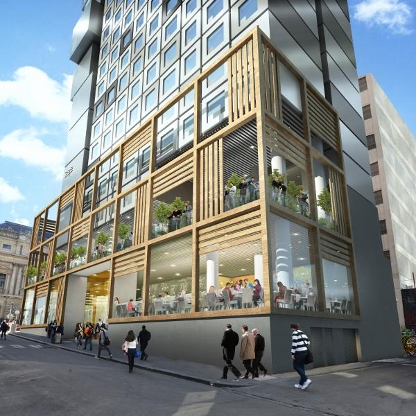 Scape Swanston学生公寓位于市中心,除了毗邻各大学,出行和购物也极为便利,并紧靠当地唐人街