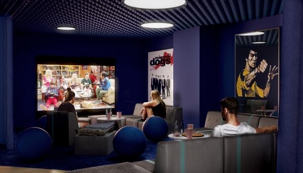 Scape Swanston学生公寓自设电影室,是与良朋消闲的好地方