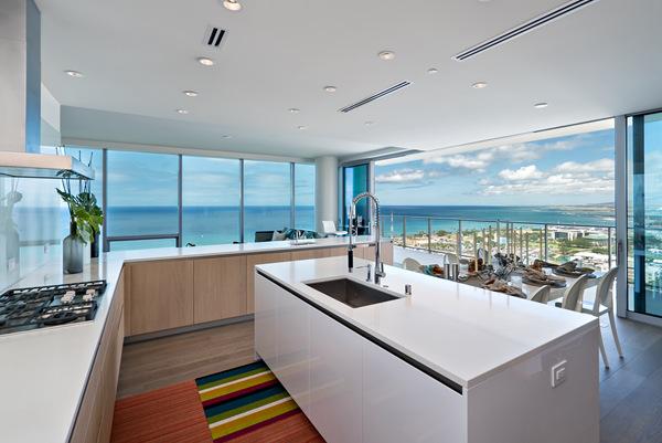 名师打造奢华海景住宅Waiea:檀香山市中心社区的先行者   美国