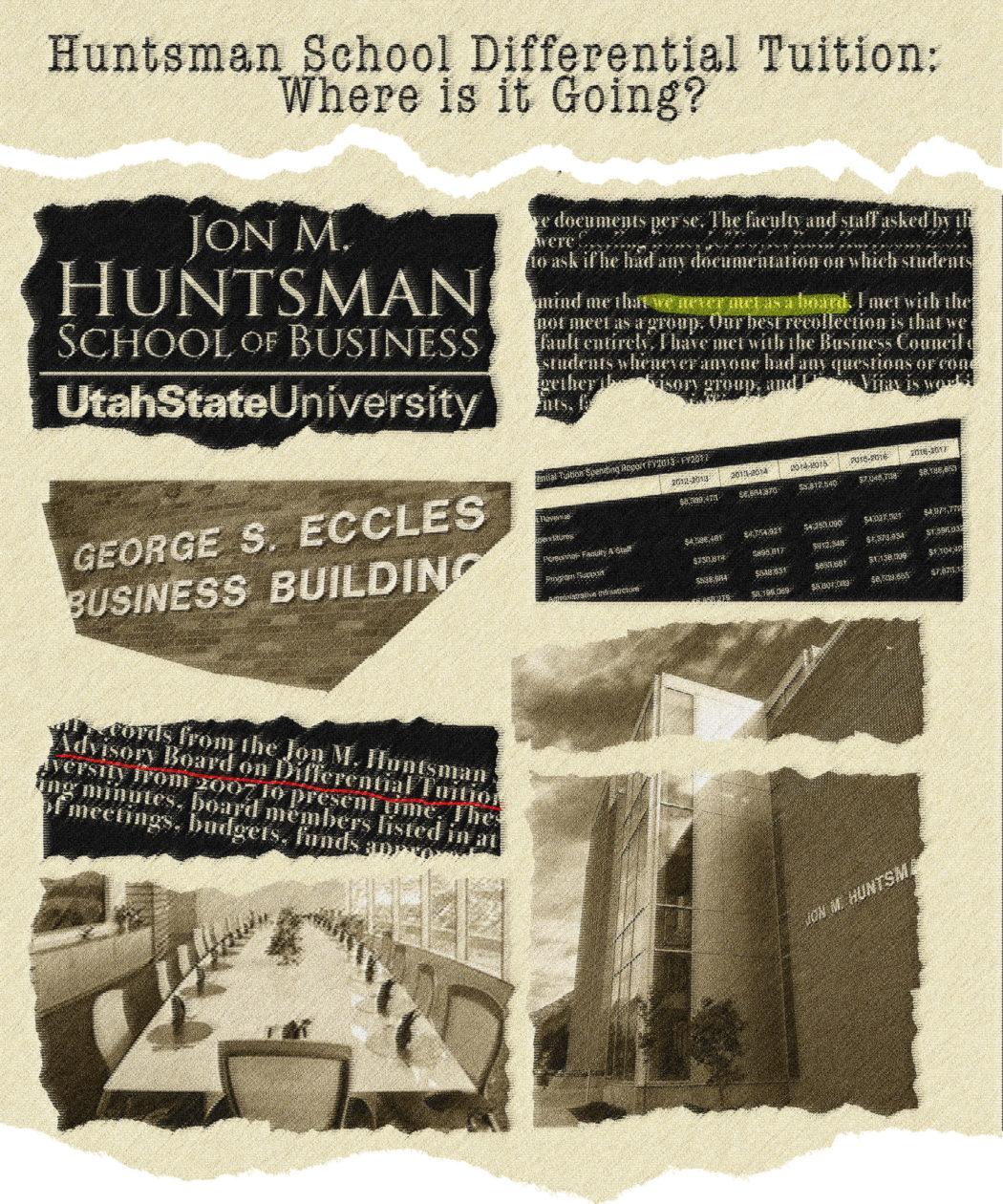 犹他州立大学学生报《犹他州政治家》的头条标题:亨斯迈商学院把差别学费花在哪里去?