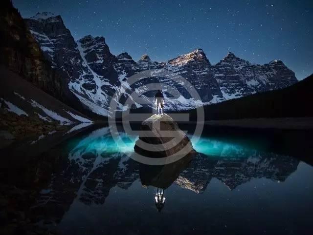 繁星若画,月光如水——班夫国家公园梦莲湖夜色